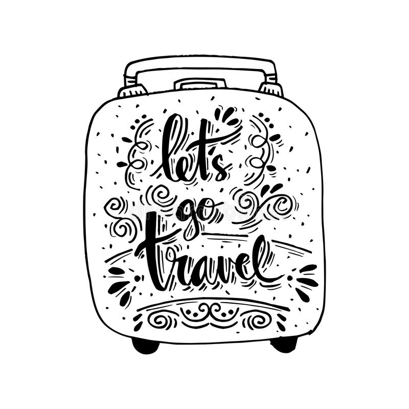 让` s去旅行 向量例证