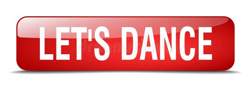 让` s舞蹈红场3d现实网按钮 向量例证