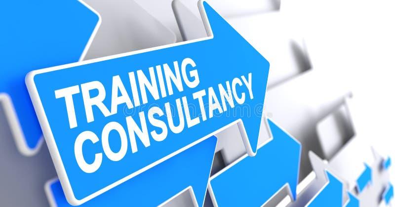 训练咨询学校-在蓝色尖的标签 3d 皇族释放例证