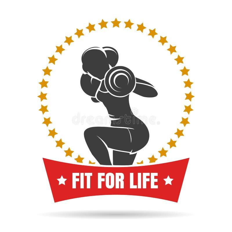 训练妇女健身中心象征 库存例证