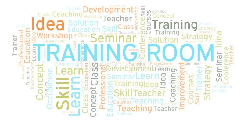 训练室词云彩 向量例证