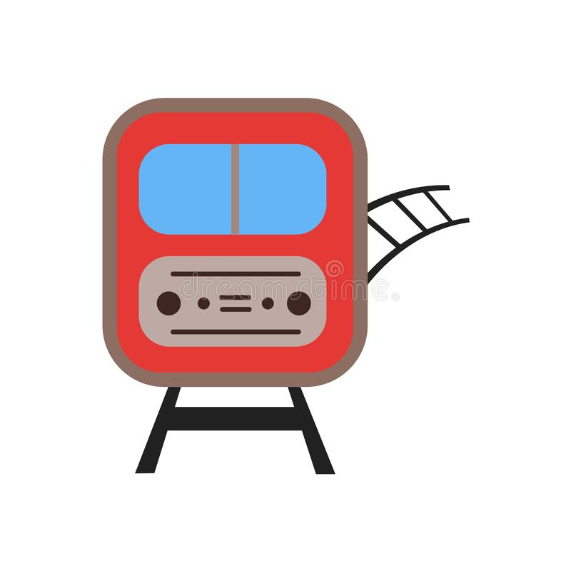 训练象在白色背景和标志隔绝的传染媒介标志,火车商标概念 皇族释放例证