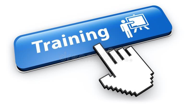 训练象网上按钮点击 向量例证