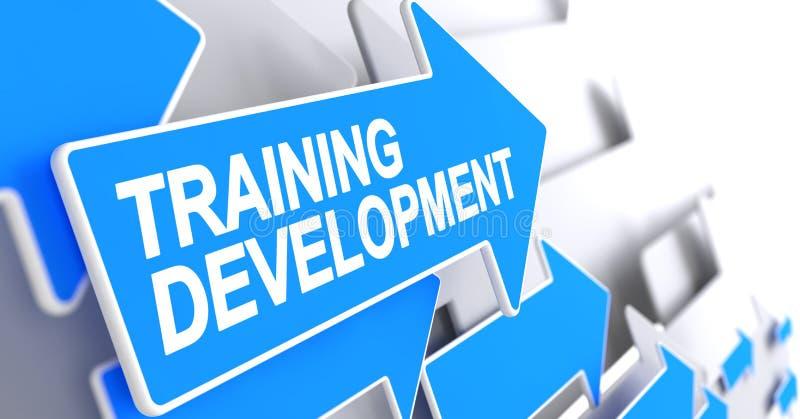 训练发展-在蓝色尖的题字 3d 向量例证