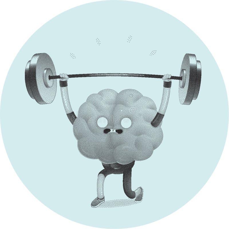 训练您的脑子,举重 皇族释放例证