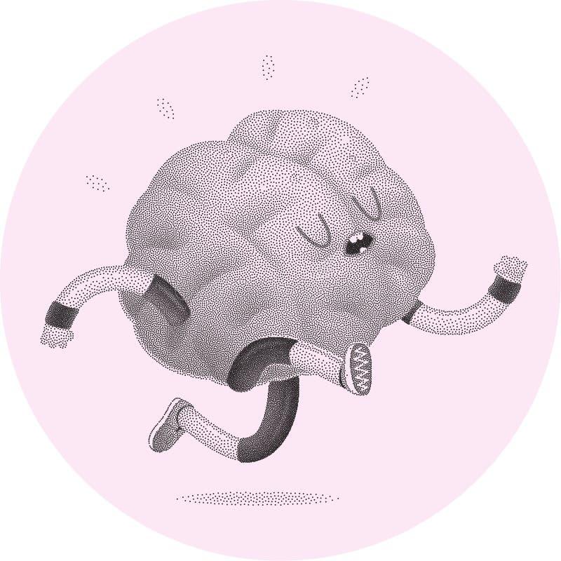 训练您的脑子,跑 向量例证