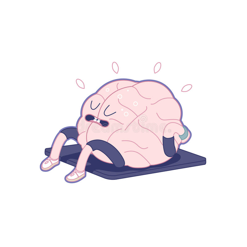 训练您的脑子,身体  库存例证