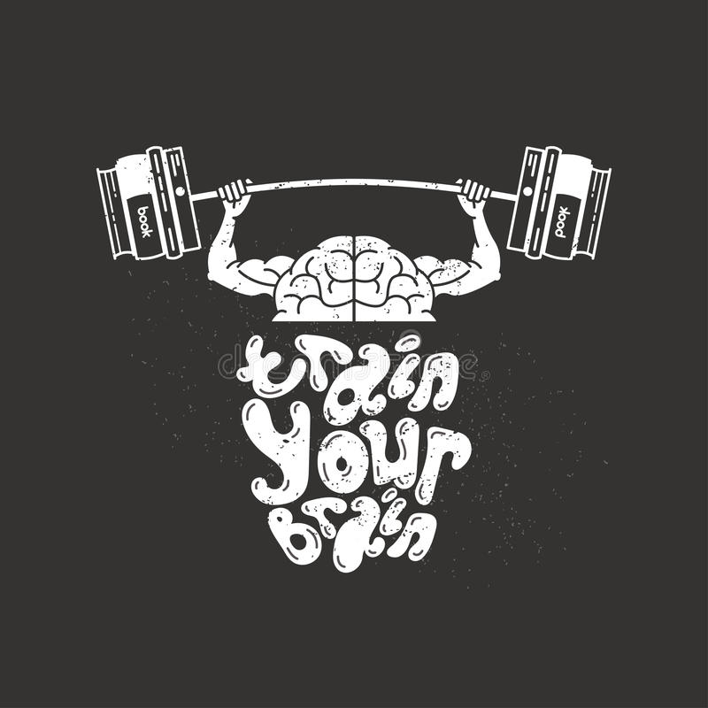 训练您的脑子 库存例证