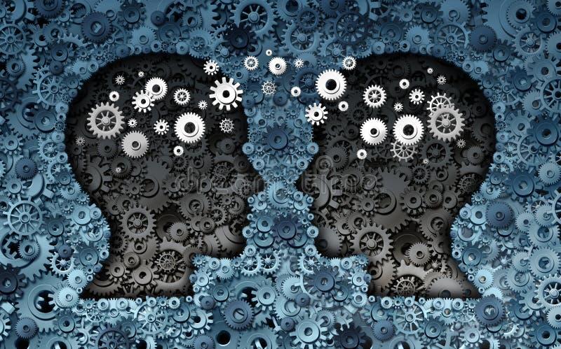 训练神经科学发展 皇族释放例证