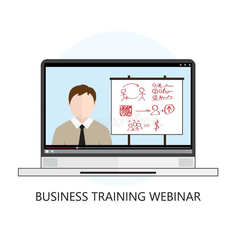 训练Webinar象平的设计观念的事务 库存例证