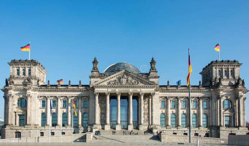 议会和死命Reichstag柏林Reichskuppel 免版税图库摄影