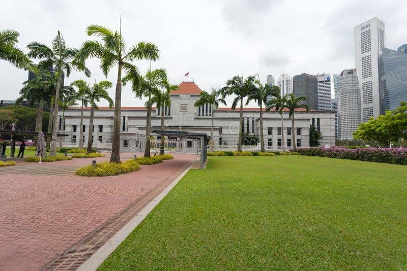 议会在新加坡安置 免版税库存照片