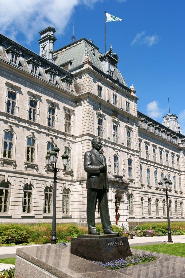议会大厦在魁北克市,加拿大 免版税库存图片