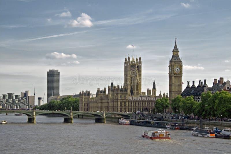 议会大厦,大笨钟,伦敦房子  库存照片