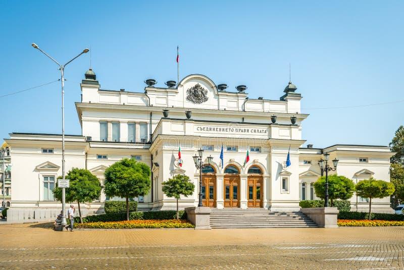 议会大厦-国民议会在索非亚,保加利亚 免版税库存照片