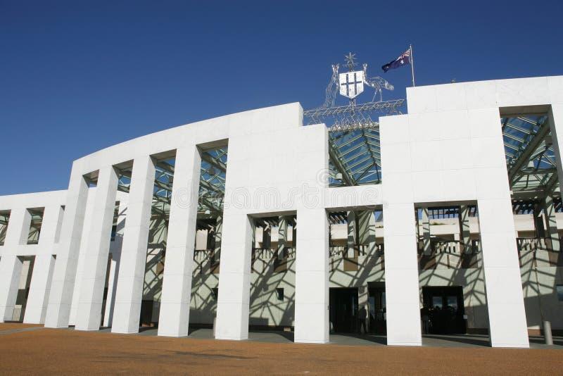 议会安置堪培拉 图库摄影