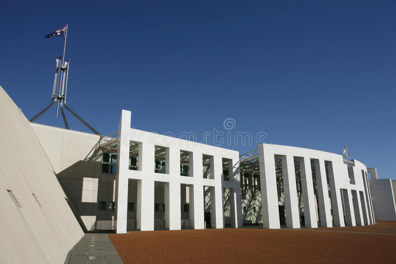 议会安置堪培拉 免版税库存图片