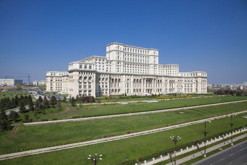 议会宫殿布加勒斯特 免版税库存图片