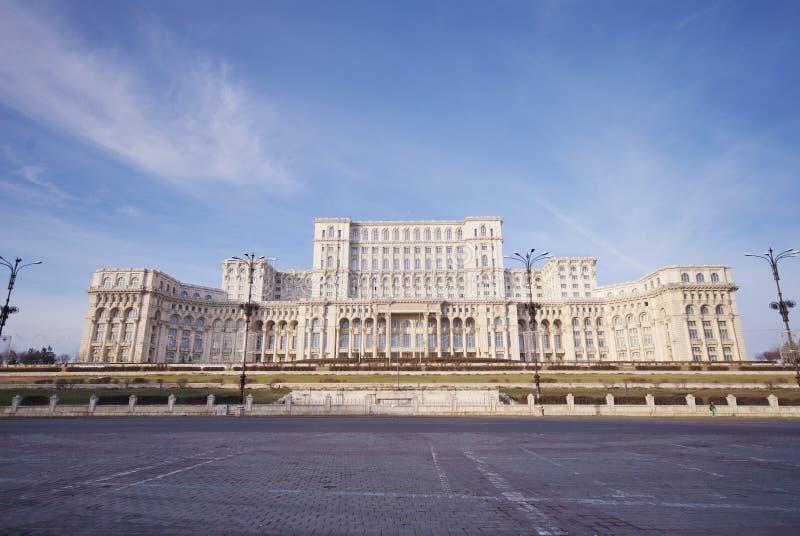 议会宫殿,布加勒斯特,罗马尼亚 免版税库存照片
