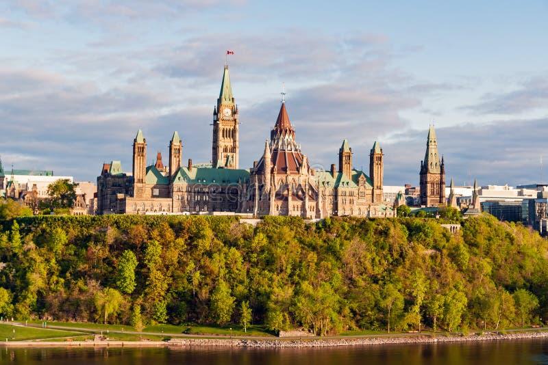 议会小山,在渥太华-安大略,加拿大 库存图片
