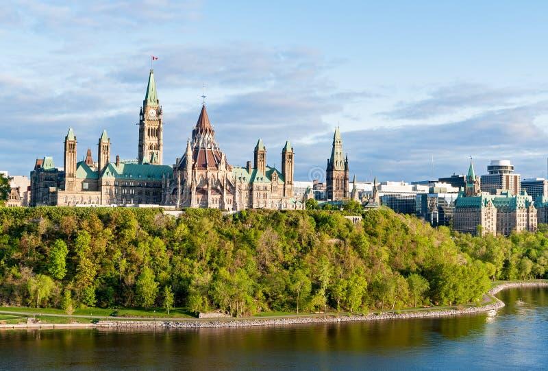 议会小山,在渥太华-安大略,加拿大 图库摄影