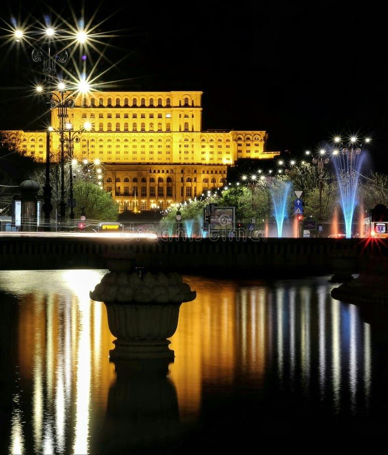 议会布加勒斯特的宫殿 库存照片