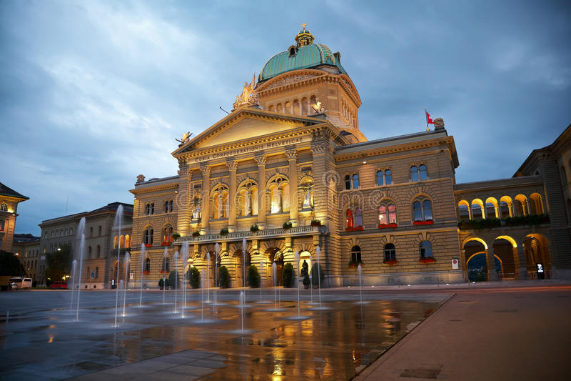 议会瑞士 免版税图库摄影