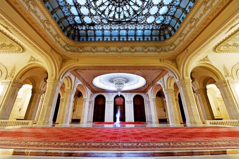 议会罗马尼亚的宫殿  免版税库存图片