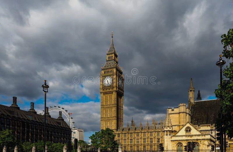 议会议院在伦敦 库存照片