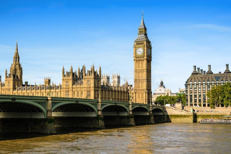 议会,伦敦,英国大本钟和议院 库存照片