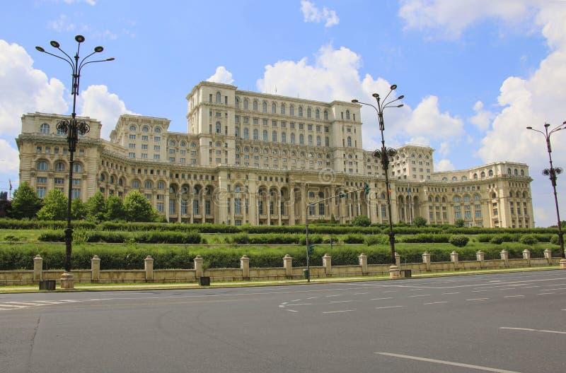 议会,布加勒斯特,罗马尼亚的宫殿 免版税库存照片