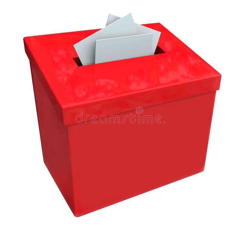建议想法反馈评论汇集箱子 皇族释放例证