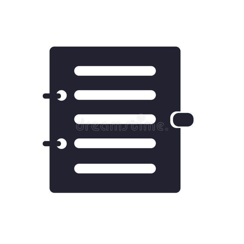 议程象在白色背景和标志隔绝的传染媒介标志,议程商标概念 皇族释放例证