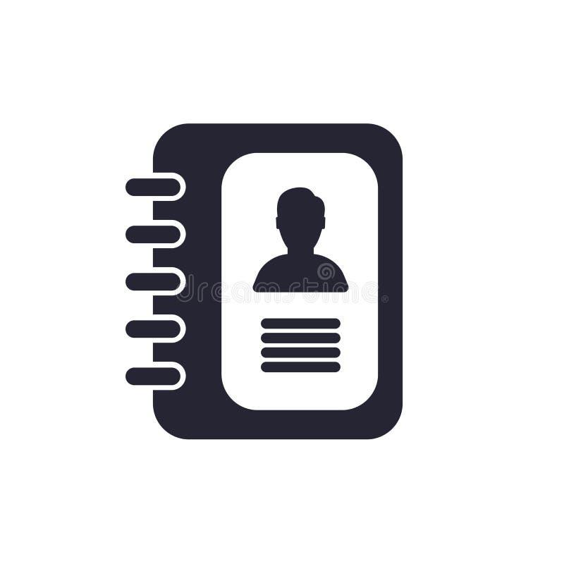 议程象在白色背景和标志隔绝的传染媒介标志,议程商标概念 向量例证