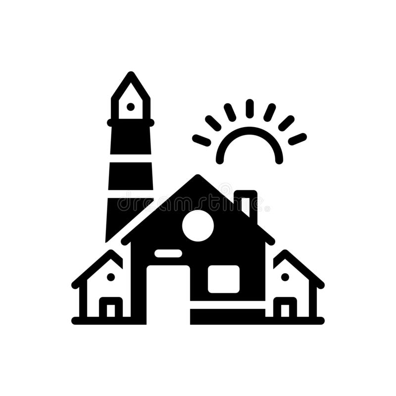 议院、家和前提的黑坚实象 库存例证