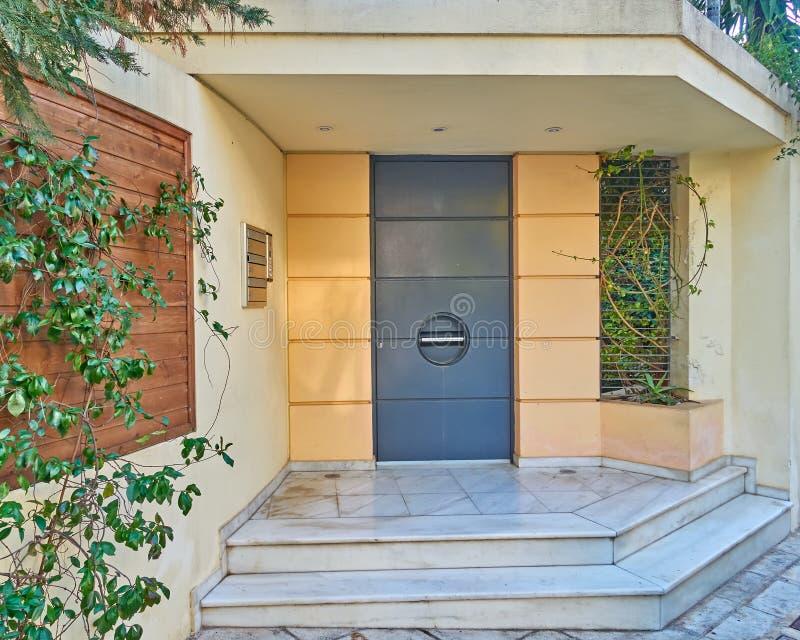 议院入口,雅典希腊 库存图片