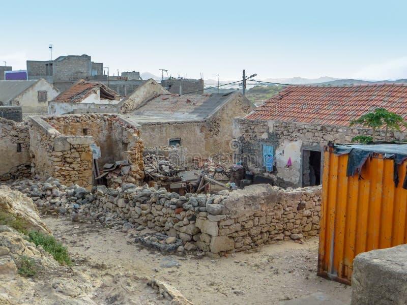 议院和废墟在博阿维斯塔 免版税库存图片