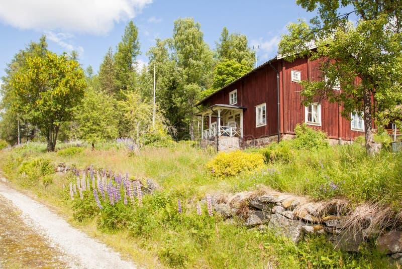 议院和环境在瑞典。 库存图片