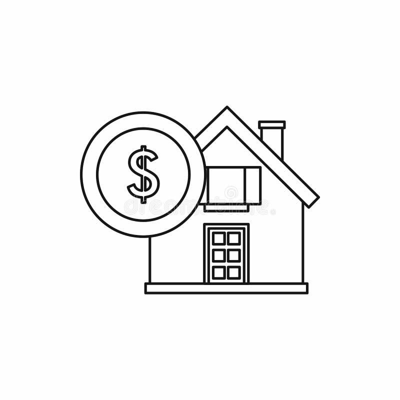 议院和美元的符号象,概述样式 库存例证