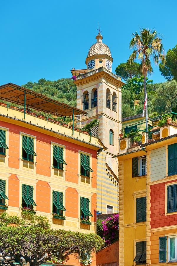 议院和钟楼在菲诺港 免版税图库摄影