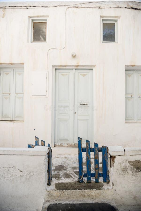 议院在米科诺斯岛镇 免版税库存图片