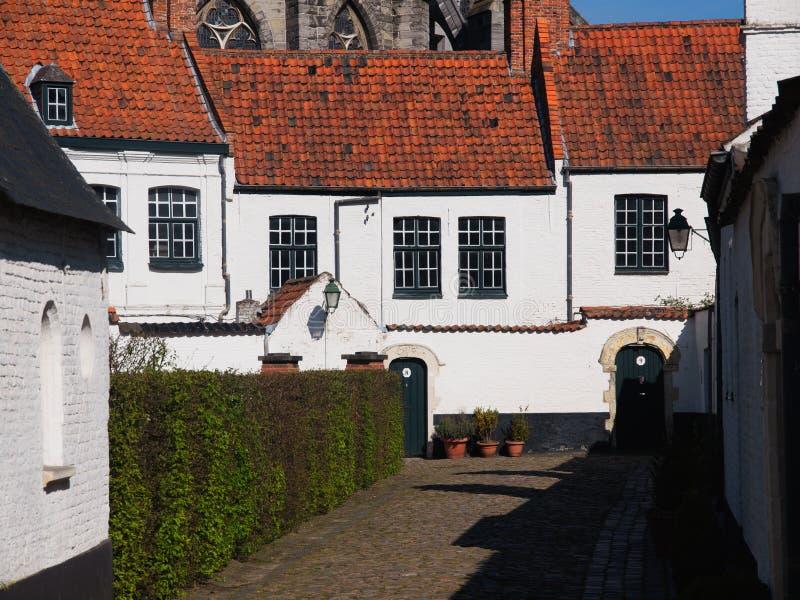 议院在Beguinage在比利时 库存照片