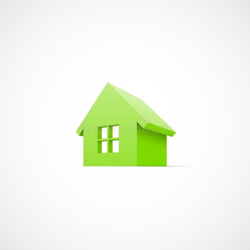 议院抽象房地产象 向量例证