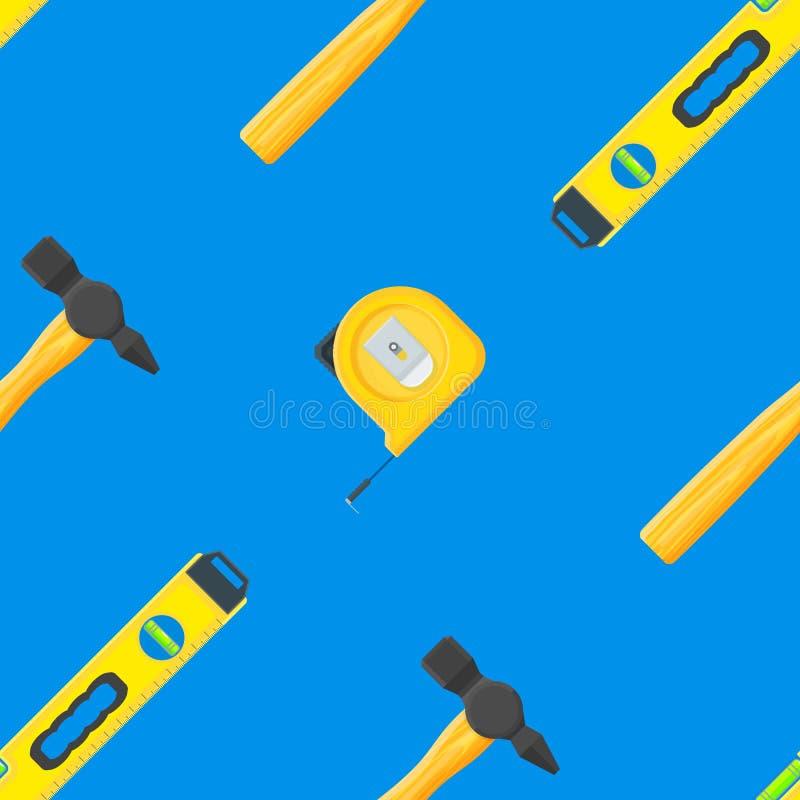 议院改造工具无缝的样式 向量例证