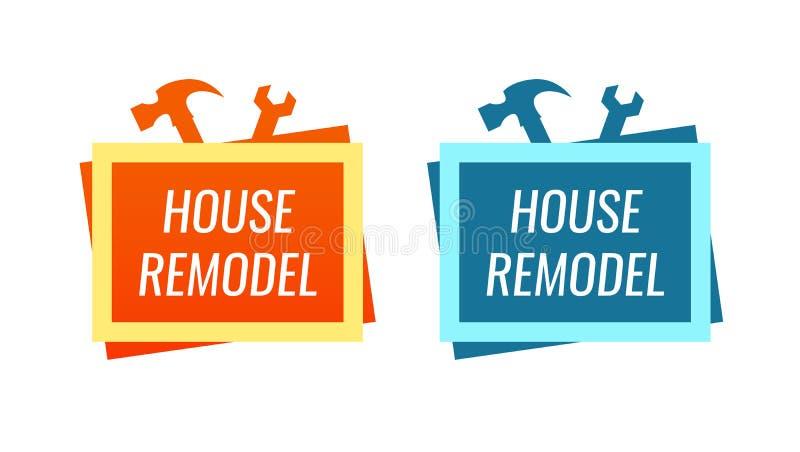 议院改造,称呼家庭整修服务的商标 库存例证