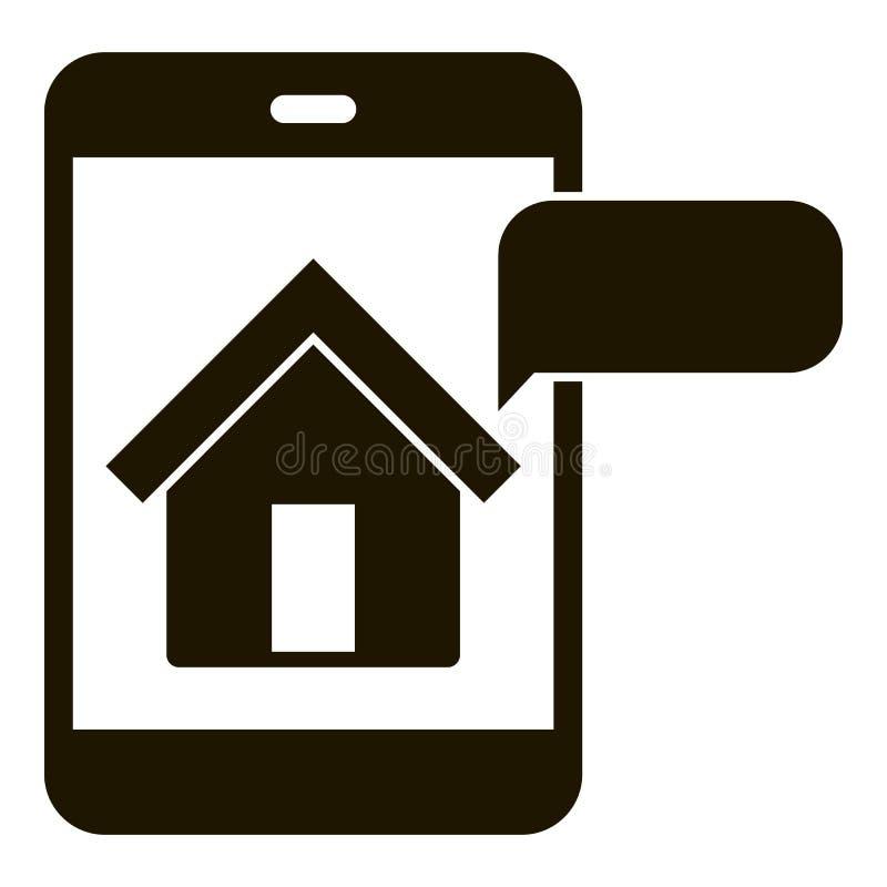 议院智能手机观察象,简单的样式 向量例证