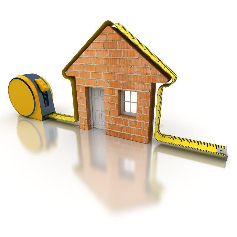 议院测量的砖 库存例证