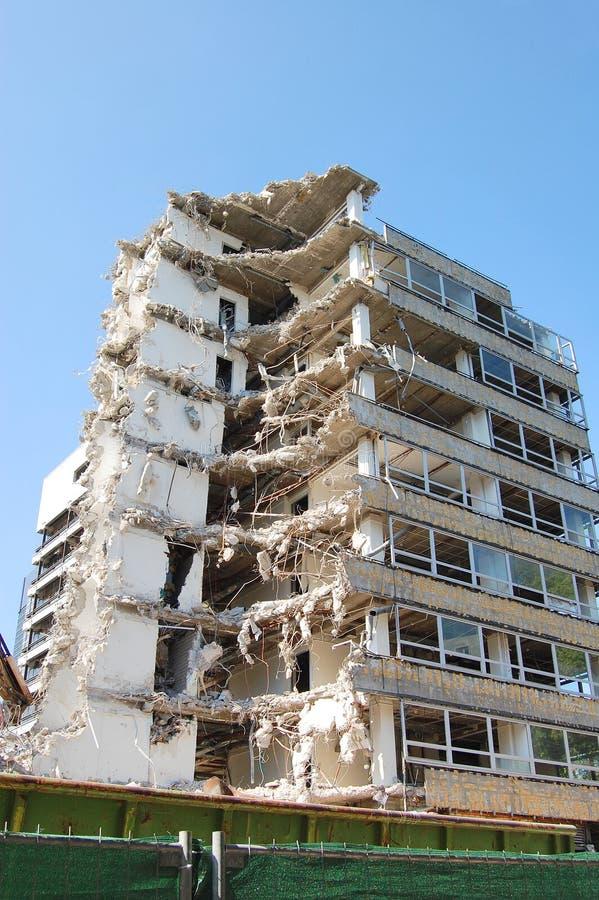 议院爆破在城市 免版税图库摄影