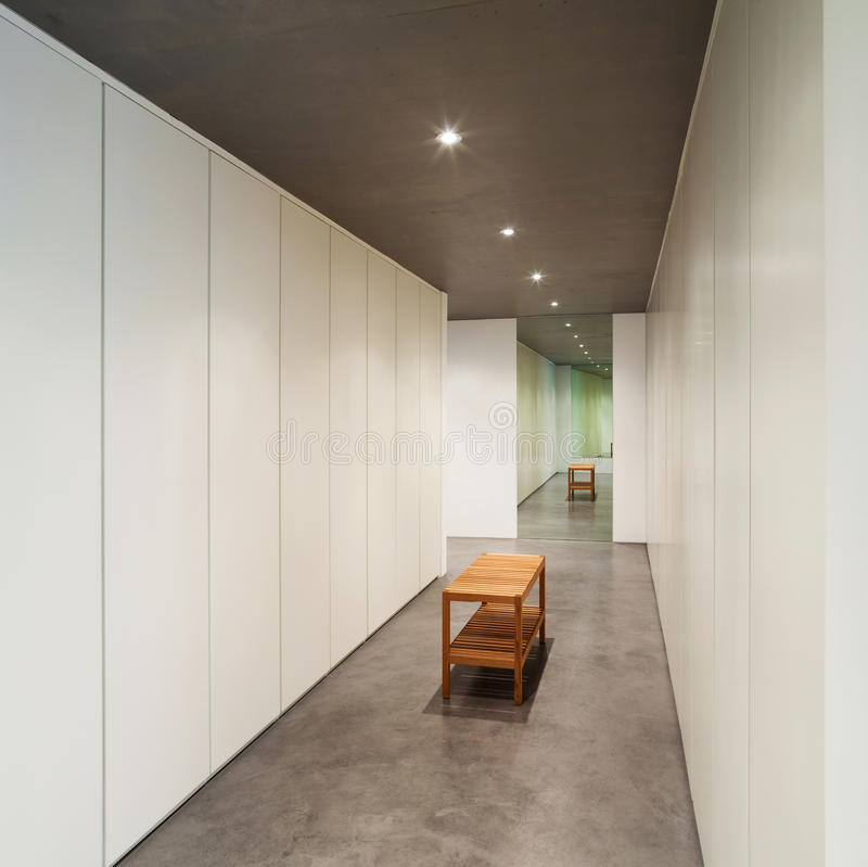 议院现代设计,内部 库存图片