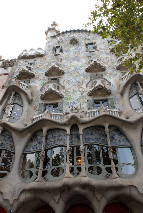 议院由Gaudi设计了在巴塞罗那,西班牙 库存图片
